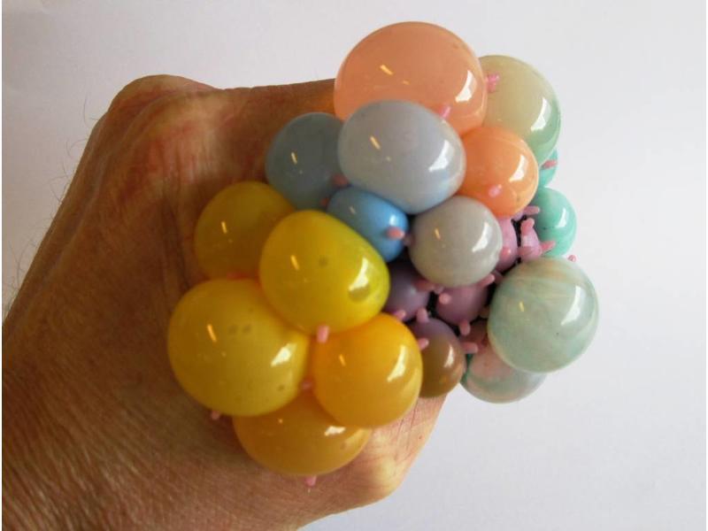 Squishy Meshball Rainbow   7,5cm