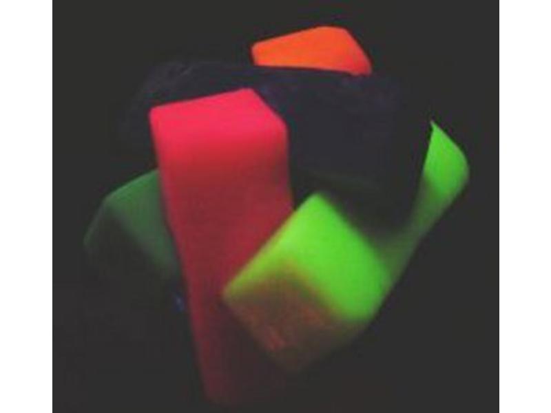 Bal kubusbal fluor    7cm