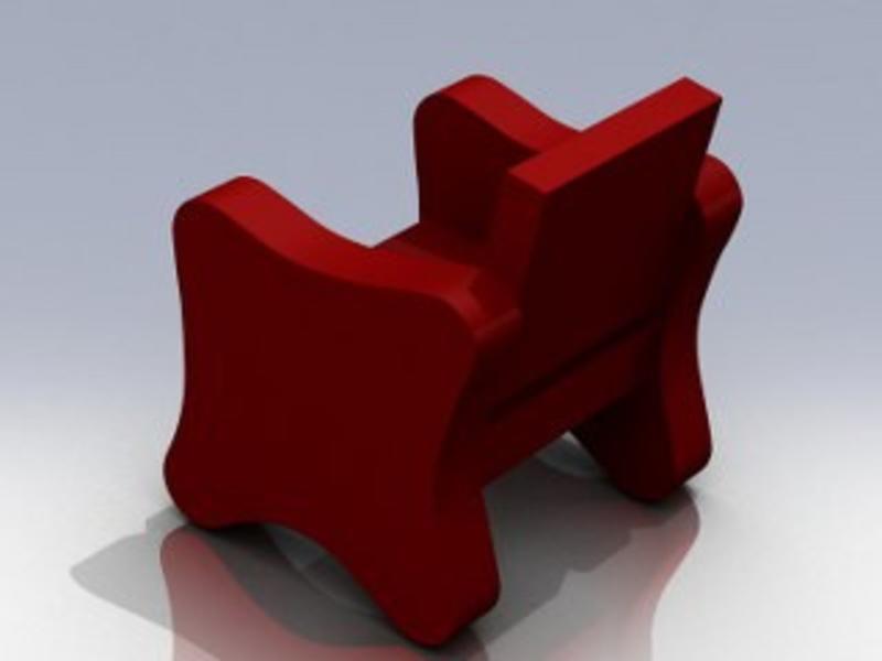 Atelier Michel Koene Stoel Orion meerprijs zachte bekleding 2 zijkanten   2 zijkanten
