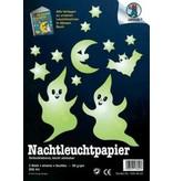Glow In The Dark papier- zelfklevend   2 x A4