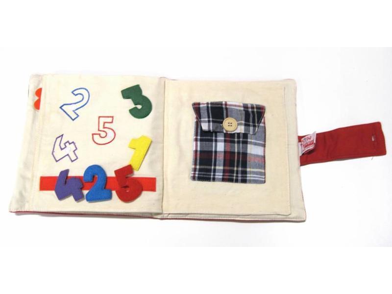 Early IQ pluche boek   21x21x5cm