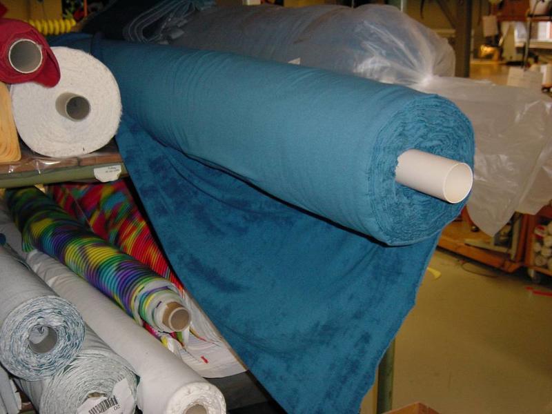 Badstof blauw   180cm breed, p/m1