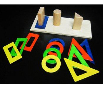 Stapelpuzzel houten figuren
