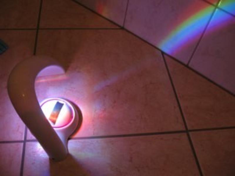 Regenboog projector   25x13cm
