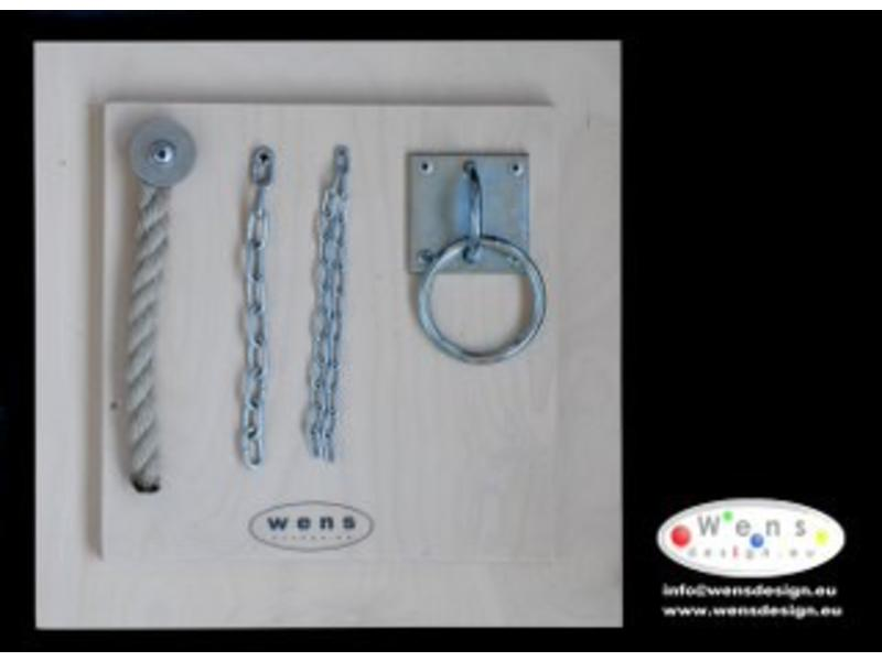 Wens Design WensDesign Voelplaat ketting-touw-ring   29,5 x 29,5 cm