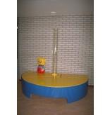 Atelier Michel Koene Eiland t.b.v. Bubble Unit half rond, Bisonyl   120cm, 50cm hoog