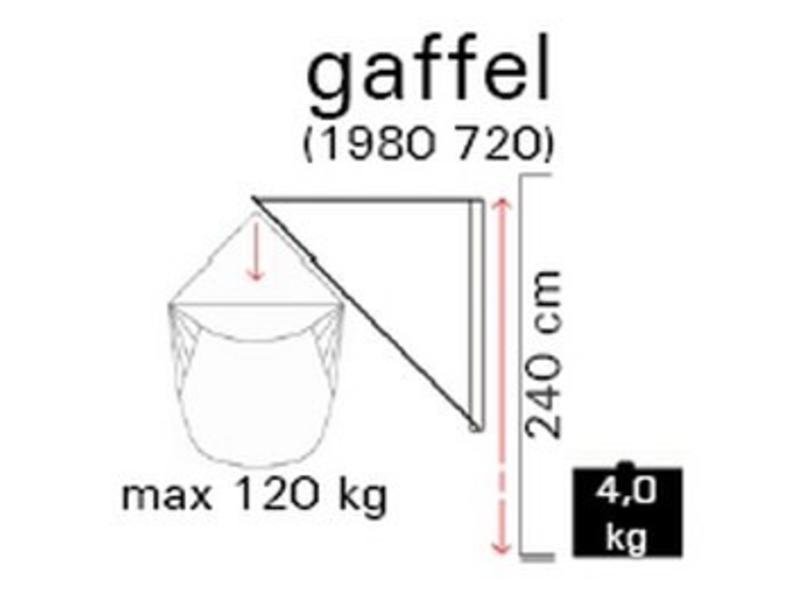 Muurophangsysteem Gaffel tbv stoelhangmat   max 120kg