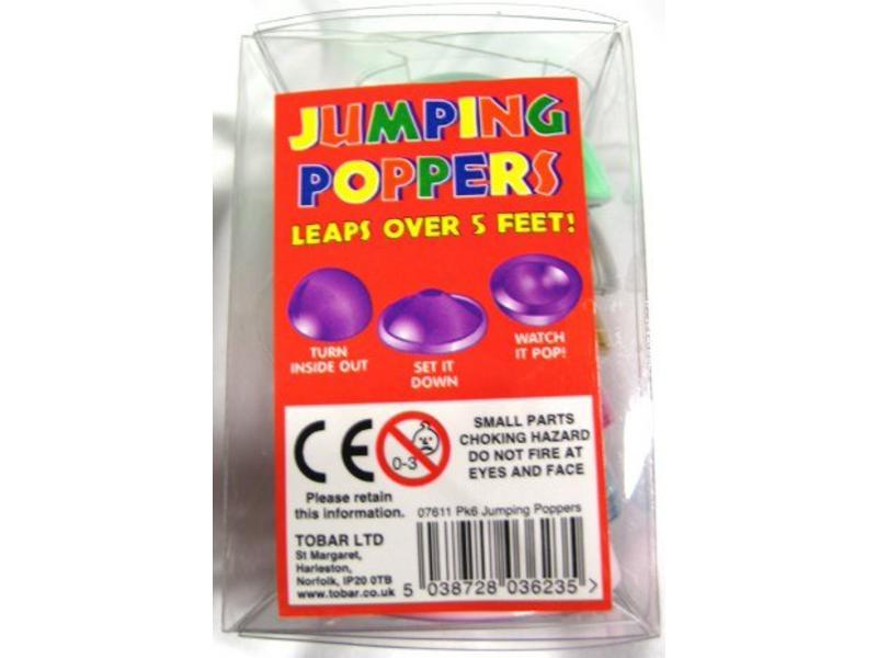 Jumping Poppers   set 6 stuks