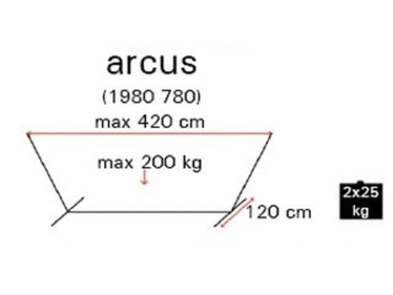 Hangmatstatief Arcus   120cm breed
