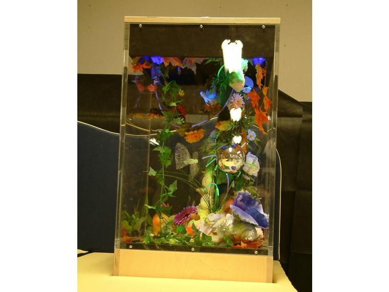Blacklightkast aquarium doorzichtig vol acrylaat   50 x 50 x 90cm