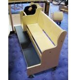 Kinderbank verrijdbaar- 3-4 kinderen DEMO - 120cm breed