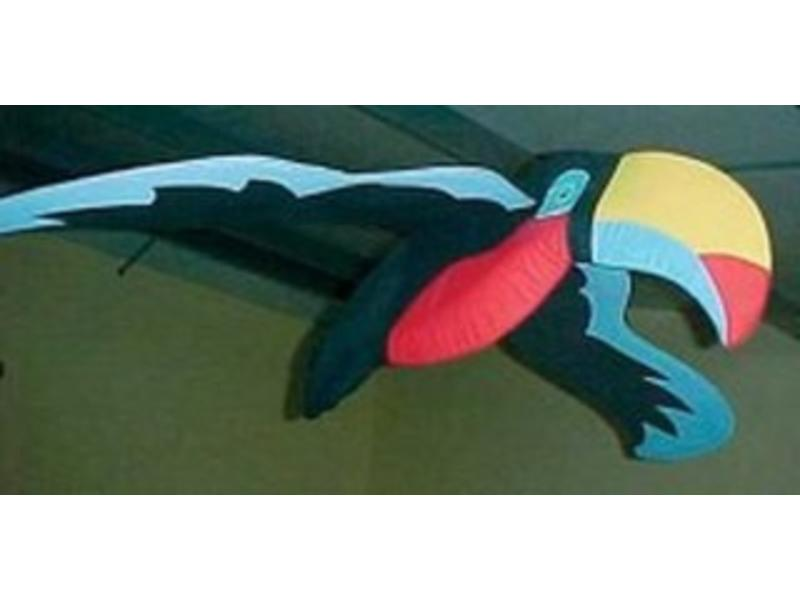 Vogel- Toekan groot spanwijdte min 100cm