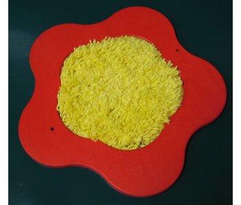 Tastbloem met tapijt