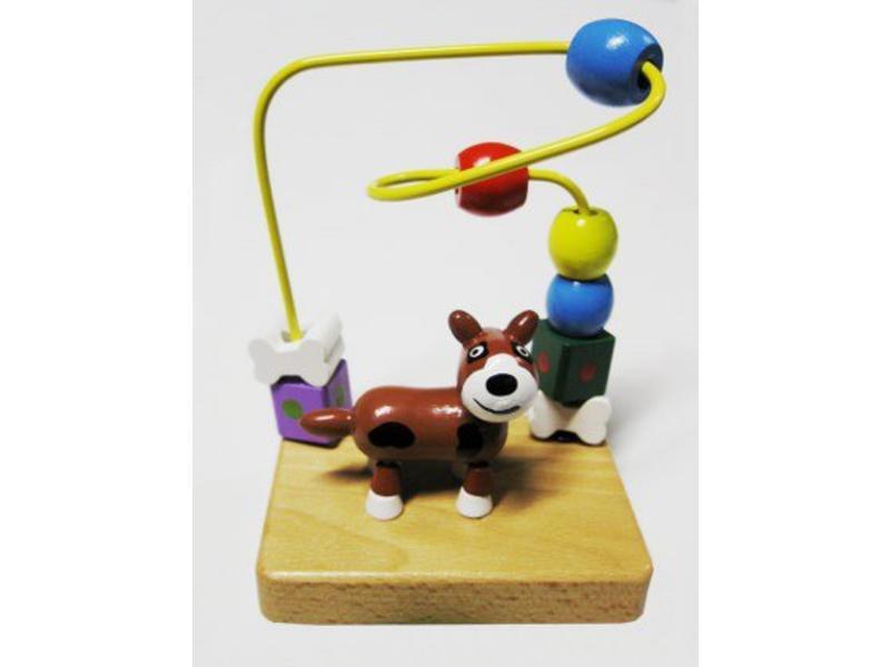Kralenspel hond of kat   13x13cm