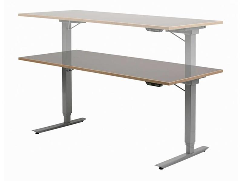 Easydesk hoog/laag tafel met blad   180 x 80cm, slag 50cm