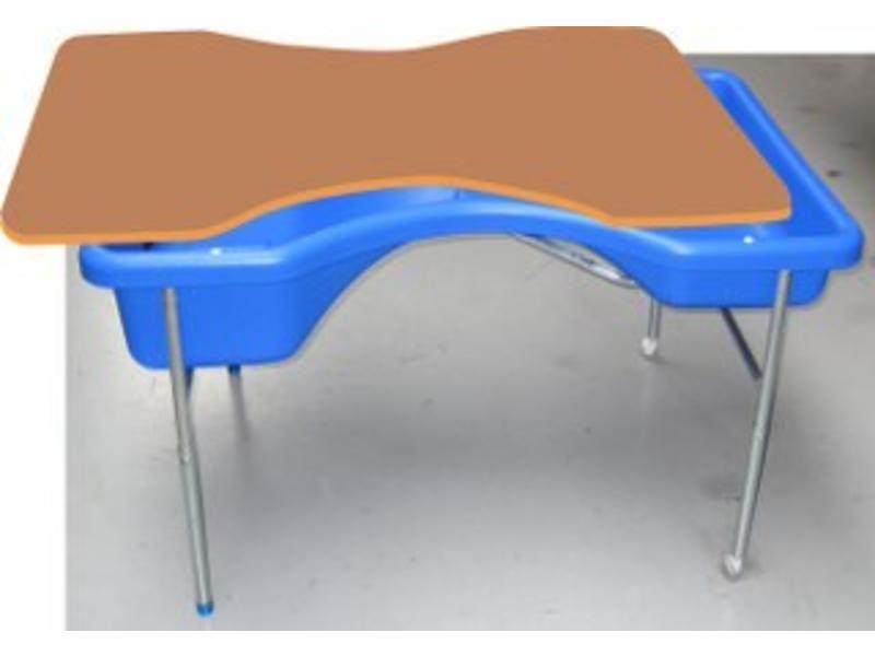 Houten deksel tbv zandwatertafel model Zandloper   97x74cm