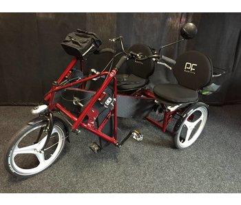 PF-Mobility Duo zitdriewieler, rood, 2x5 versn. DEMO