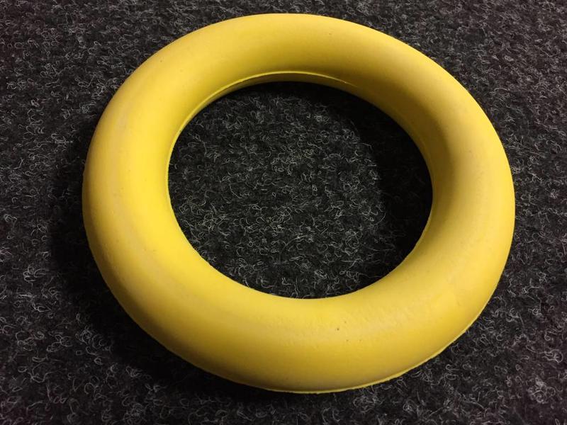 Werpring zacht - geel