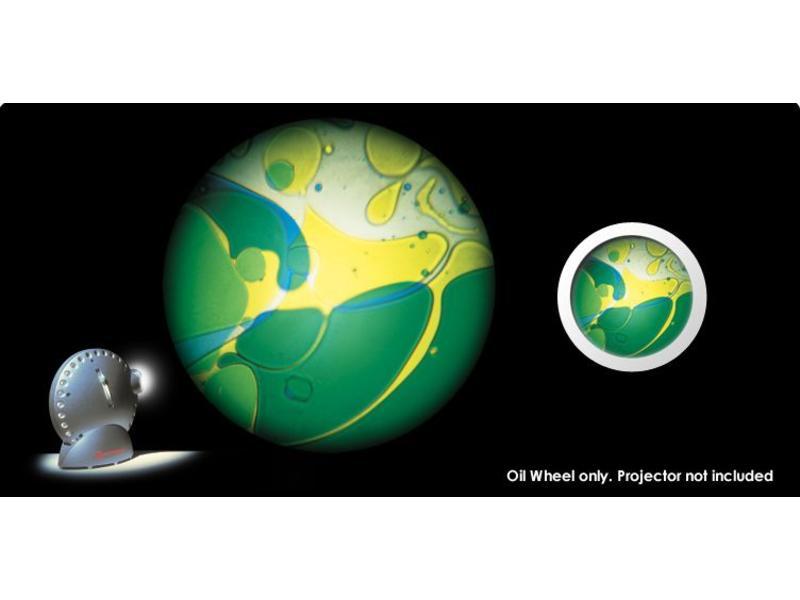Mathmos Vloeistofwieltje Space-Projector blauw/geel