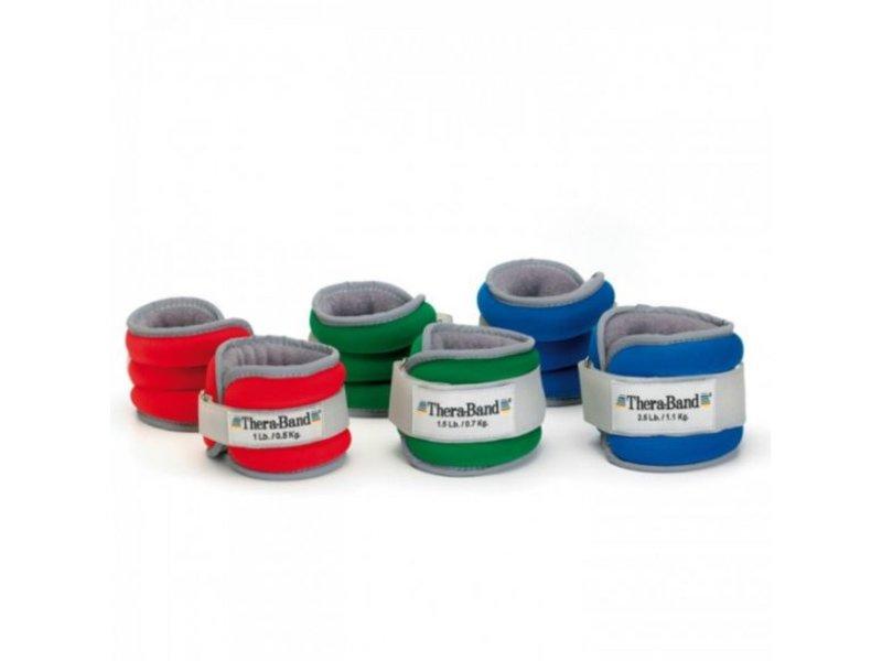 Gewichtenmanchetten TheraBand Blauw set van 2 stuks