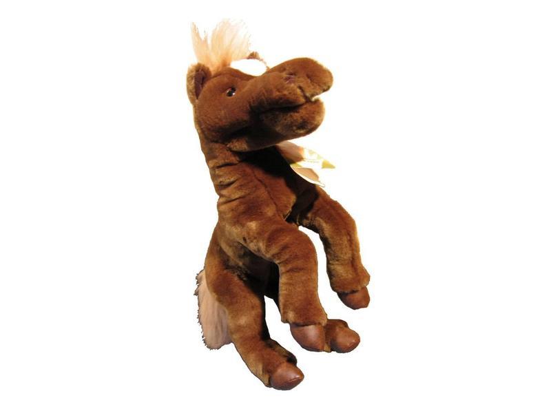 Handpop Paard bruin 45 cm