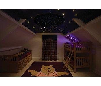 Sterrenplafond rond met lichtbron
