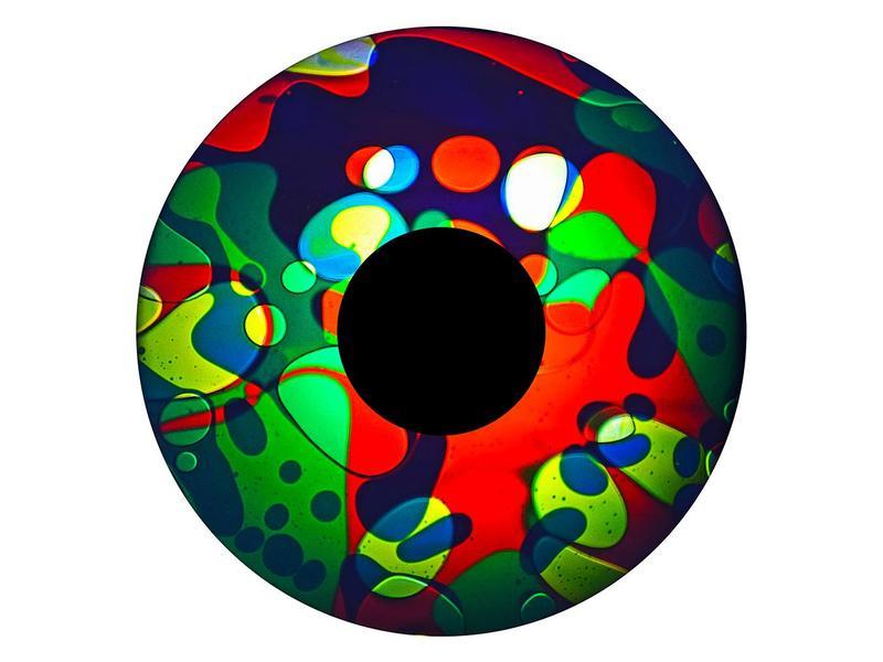 """OPTIkinetics 6"""" Effectwiel vloeistof  groen/rood/geel/blauw"""