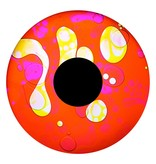 """OPTIkinetics 6"""" Effectwiel vloeistof    roze/rood/geel/wit"""