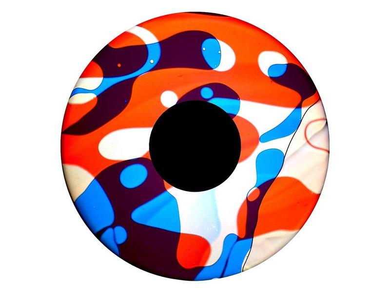 """OPTIkinetics 6"""" Effectwiel vloeistof  rood/wit/blauw"""
