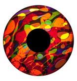 """OPTIkinetics 6"""" Effectwiel vloeistof  geel/paars/rood/blauw"""