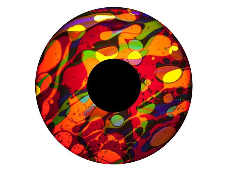 """OPTIkinetics 6"""" Effectwiel vloeistof voor Solar 100-250  geel/paars/rood/blauw"""
