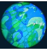"""OPTIkinetics 6"""" Effectwiel vloeistof  groen/blauw"""