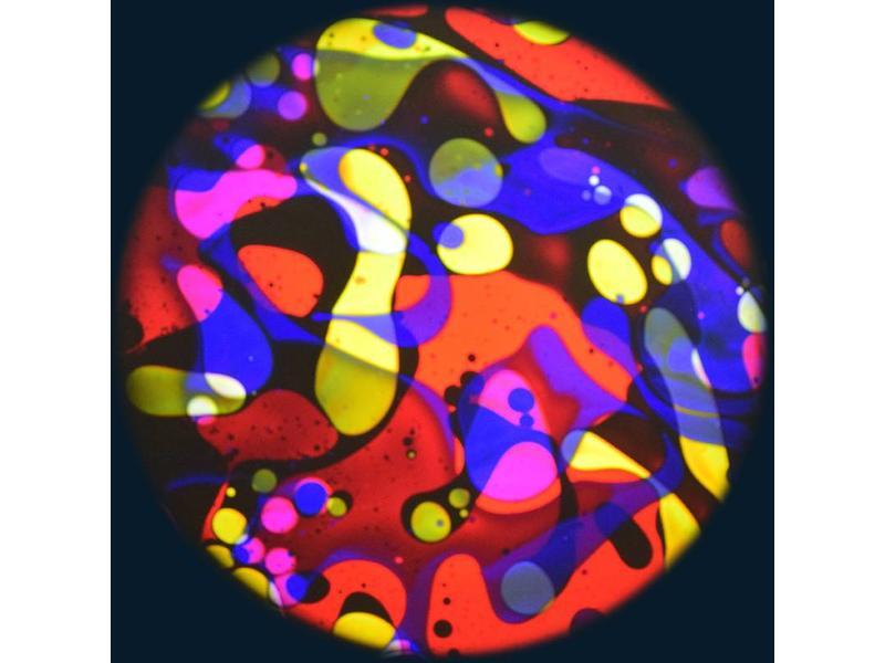 """OPTIkinetics 6"""" Effectwiel vloeistof voor Solar 100-250     geel/paars/roze/blauw"""