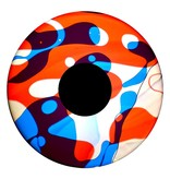 """OPTIkinetics Magnetisch 6"""" effectwiel vloeistof (Candy Burst)"""