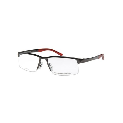 Porsche Design - P'8166 D Dark Gray, Red Matt Titanium