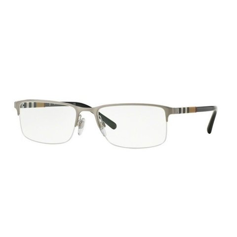 Burberry - BE 1282 1166 Silver/Black-Beige Striped