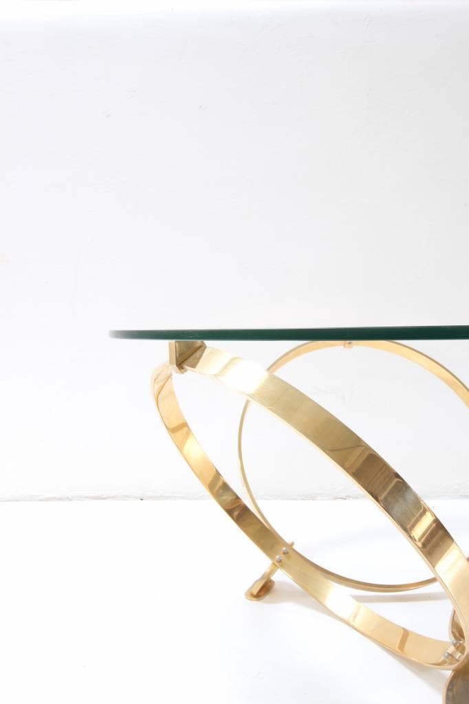 Vintage design coffee-table brass from Knut Hesterberg for Roland Schmitt