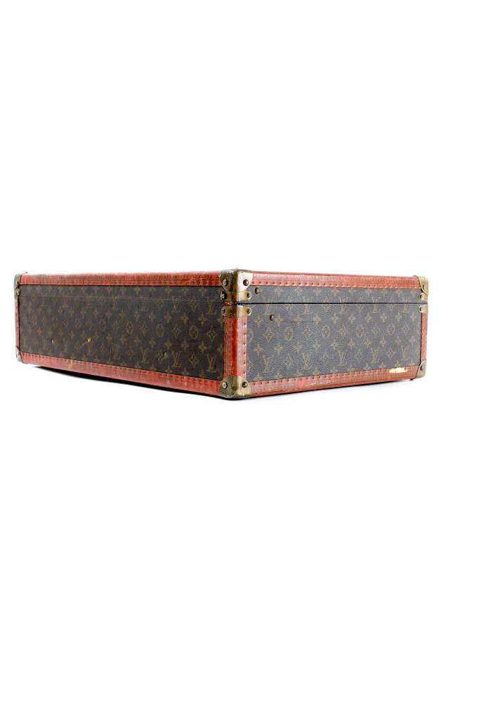 Original vintage Louis Vuitton suitcase monogram canvas