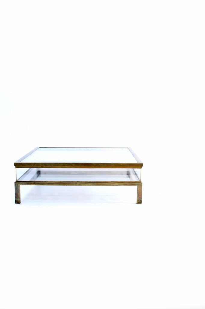 Sliding vintage design salontafel van Maison Jansen