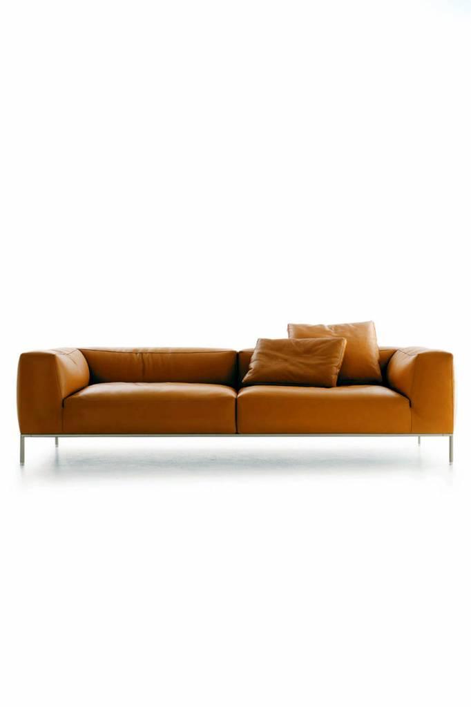 lederen b b italia sofa in cognac leder wauwshop kortrijk. Black Bedroom Furniture Sets. Home Design Ideas