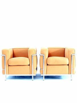 Couple Le Corbusier LC2 1 seat