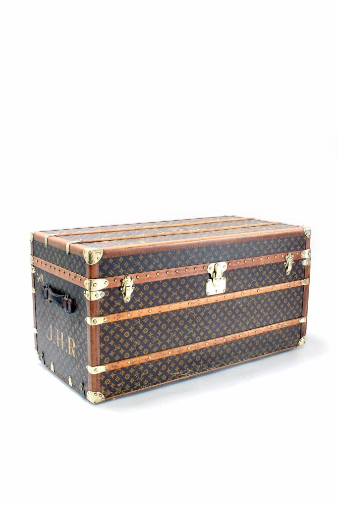 Old Louis Vuitton travel trunk 1920 with monogram