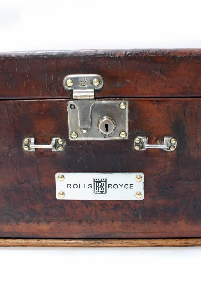 Vintage Leather Louis Vuitton car trunk rolls royce