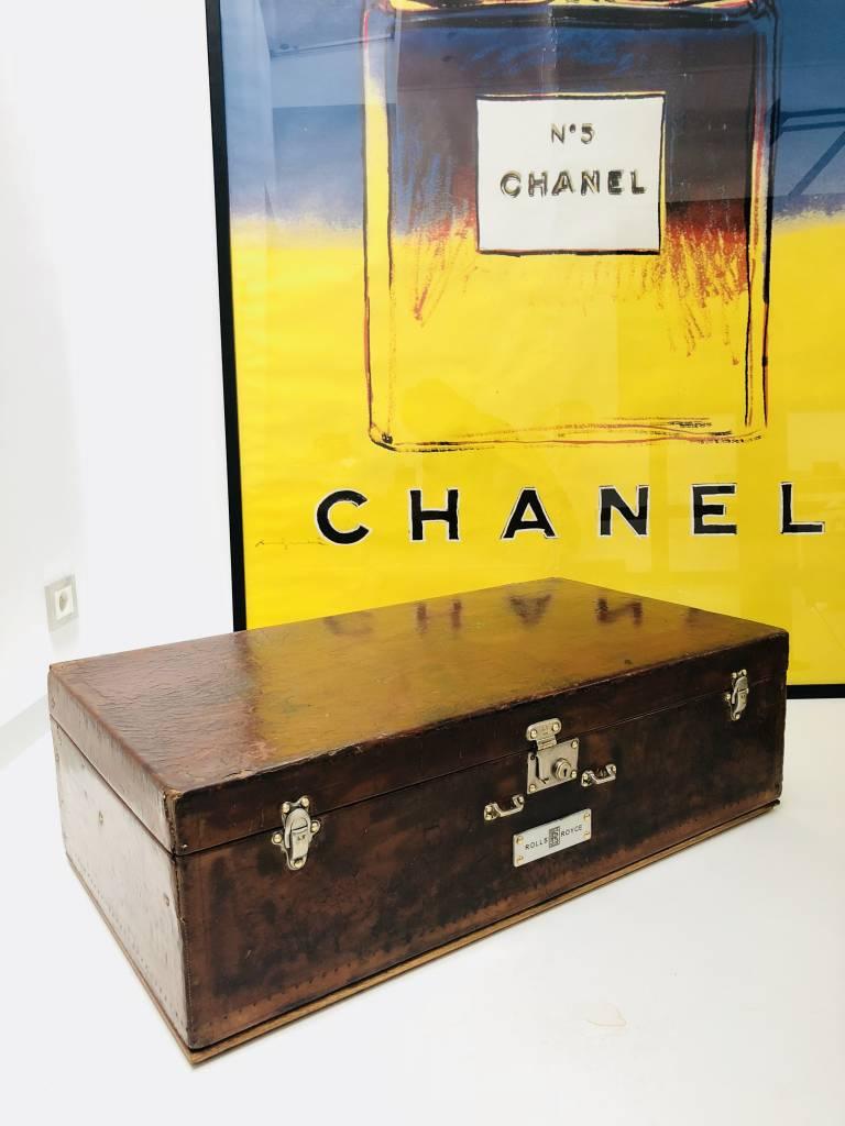 Vintage Lederen Louis Vuitton autokoffer rolls royce