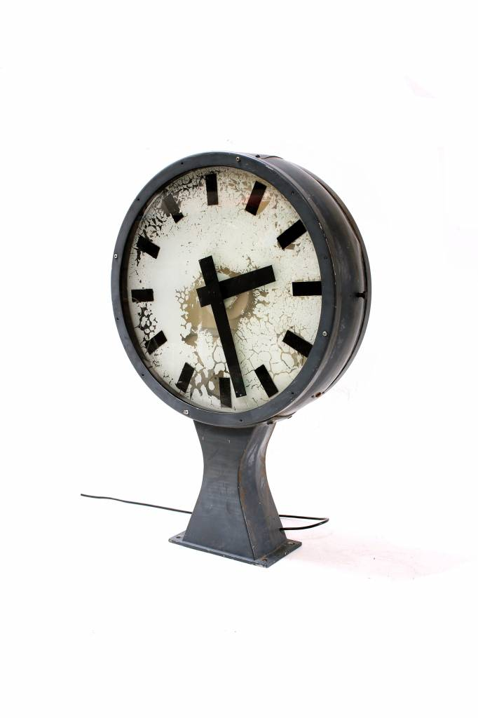 Original old big station clock