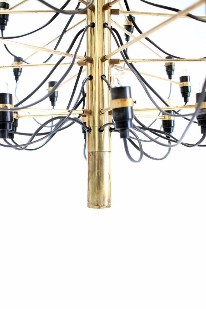 Gino Sarfatti chandelier in brass first production