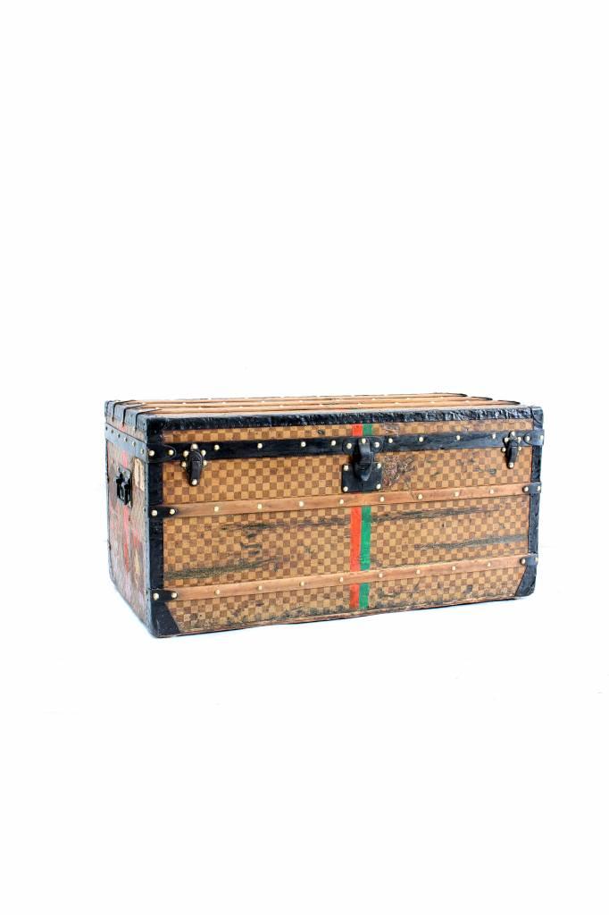 Antique Louis Vuitton Damier suitcase from 1888