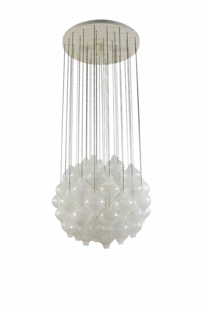 Vintage Tulipan chandelier by JT Kalmar for Franken