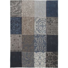 Patchwork vloerkleed denim