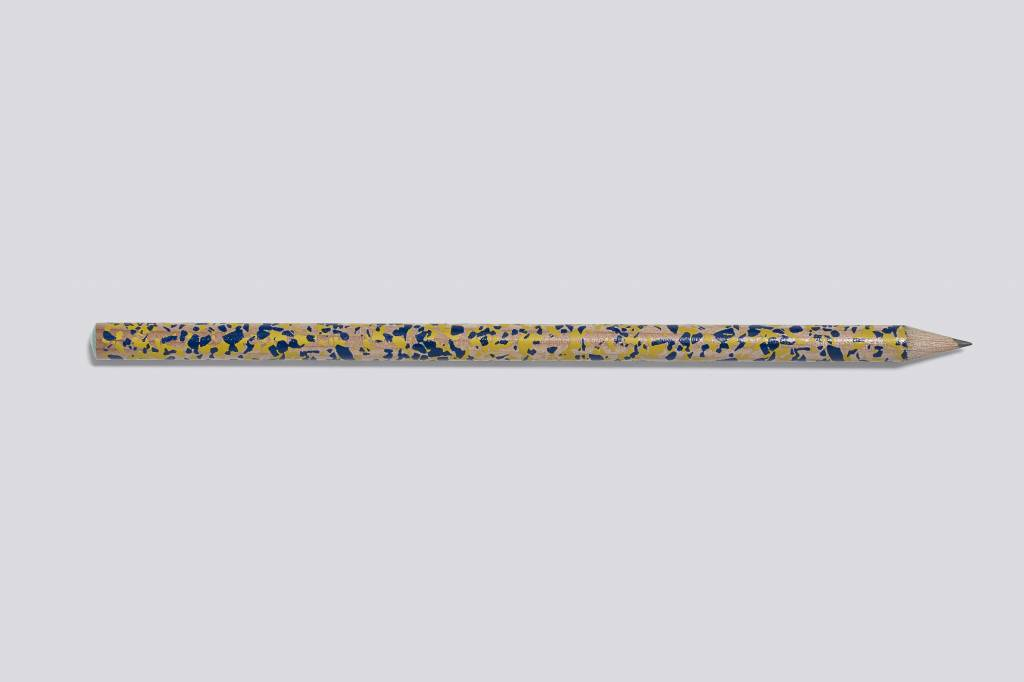 Hay Hay terrazzo pencil navy and yellow